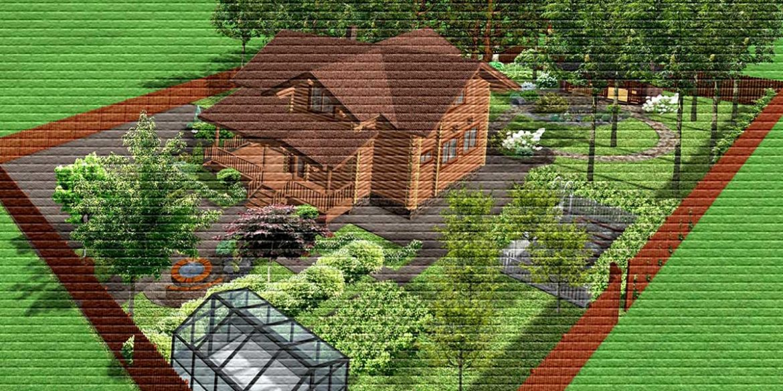 Участок с домом - картинка