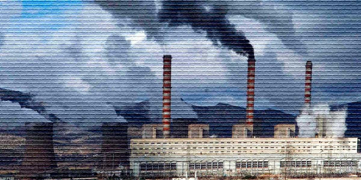Завод дымит - картинка