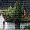 Заросший дом - картинка