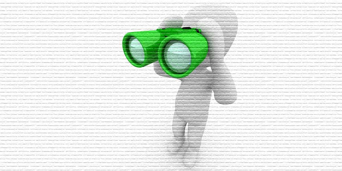 Человечек с биноклем - картинка