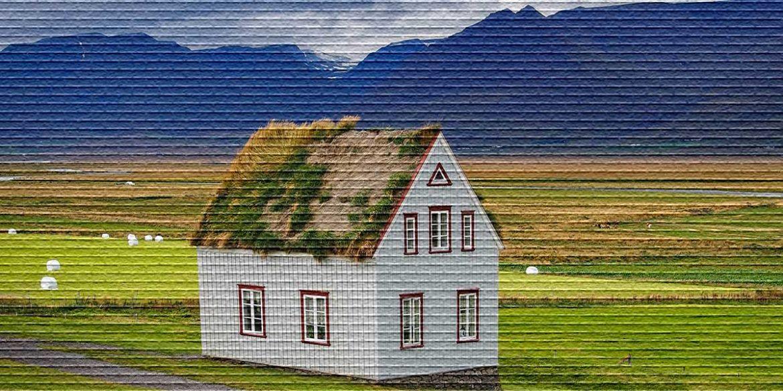 Дом в поле - картинка