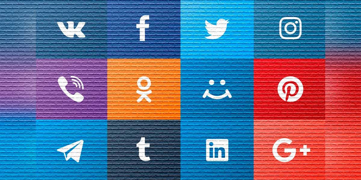 Иконки соцсетей - картинка