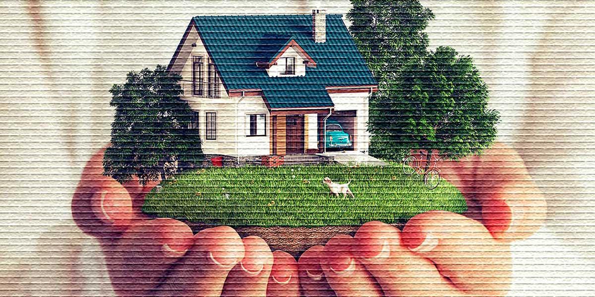 Земельный участок с домом - картинка