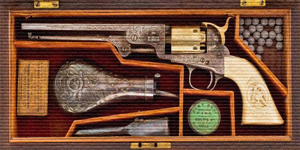 Старинный револьвер - картинка