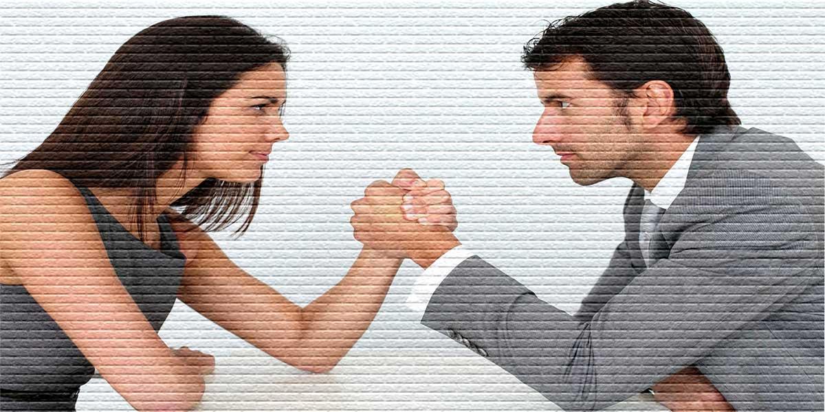Мужчина спорит с женщиной - картинка