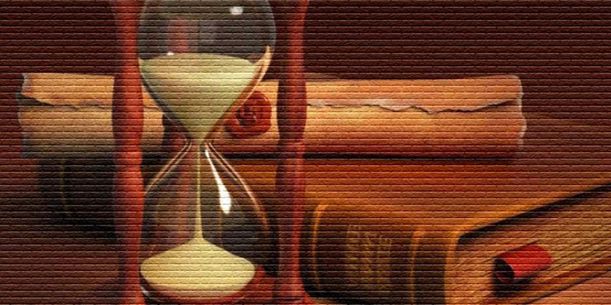 Песочные часы и документы - картинка